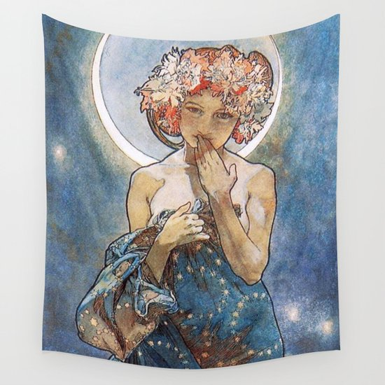 Alphonse Mucha Moonlight Art Nouveau by vintageartstore