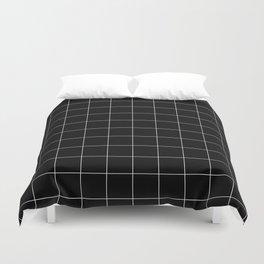 Black Grid /// pencilmeinstationery.com Duvet Cover