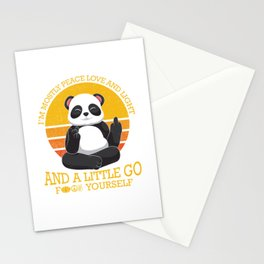 Mostly Peace Love Light And A Little go F You Stationery Cards