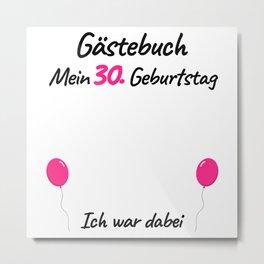 30th Birthday Women Guest Book Metal Print
