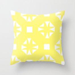 Butter Yellow Pattern One Throw Pillow
