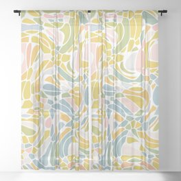 Pastel Pebbles Sheer Curtain