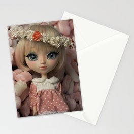 Innocent girl Stationery Cards
