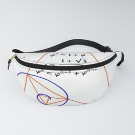 Golden Triangle / Logarithmic Spiral Fanny Pack