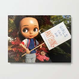 The Durham Doll: Girls Can Be Anything **(SPECIAL EDITION print!)** Metal Print