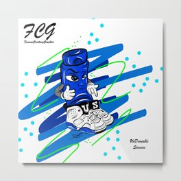 Mr.ShoeLock (blue) Metal Print