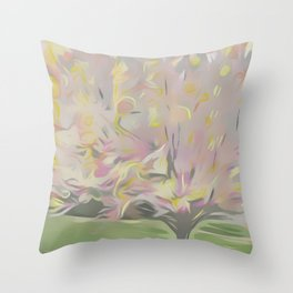 Cotton Candy Tree Throw Pillow