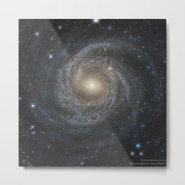 1696. NGC 6814: Grand Design Spiral Galaxy from Hubble  Metal Print