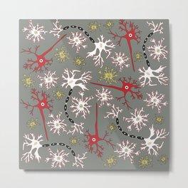 Neuron Nerd Metal Print