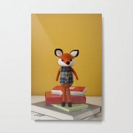 Henry the fox - doll Metal Print