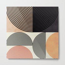 lines & shapes III - abstract geometric Metal Print