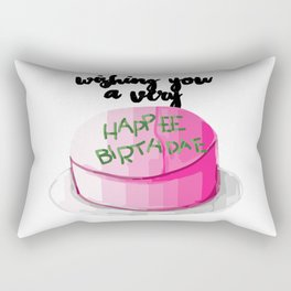 Happee birthdae harry cake movie Rectangular Pillow