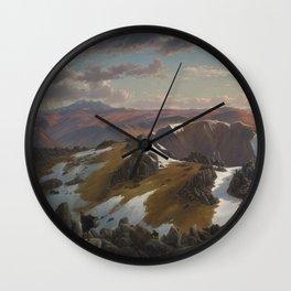 Northeast view from the northern top of Mount Kosciusko by Eu von Guerard Date 1863  Romanticism  La Wall Clock