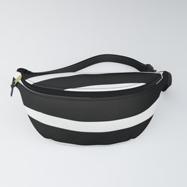 Abstract black & white Lines Stripes Pattern - Mix and Match with Simplicity of Life Fanny Pack