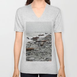 Driftwood Beach after the Storm Unisex V-Neck