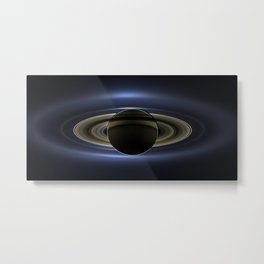 The Day the Earth Smiled   Spacer Collection Metal Print