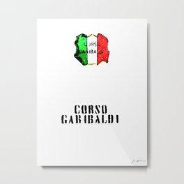 Italian flag painted of Corso Garibaldi Metal Print