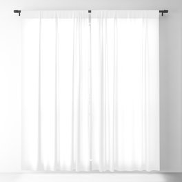 White Minimalist Solid Color Block Blackout Curtain