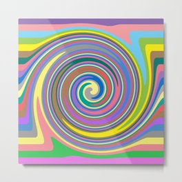 Rainbow swirl pattern Metal Print