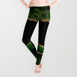 Emerald Marble Glamour Landscapes Leggings