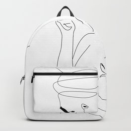 Woman Smoking Backpack