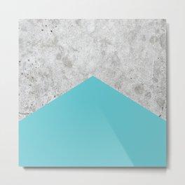 Geometric Concrete Arrow Design - Light Blue #206 Metal Print