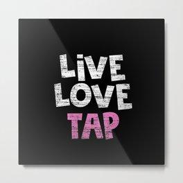 Womens Dance Live Love Tap Dancing V-Neck Metal Print