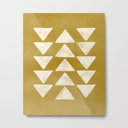 Flying Geese - Mustard Metal Print