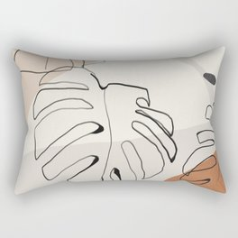 Minimal Abstract Art- Monstera Rectangular Pillow