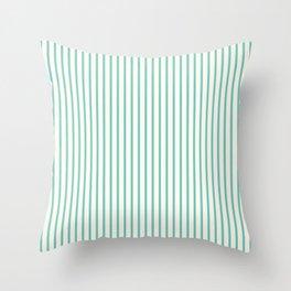 Stripy meadow Throw Pillow