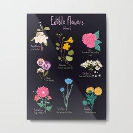 Edible Flowers Vol 1 Metal Print