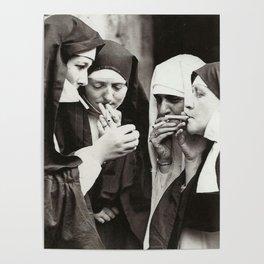 Nuns Smoking Poster