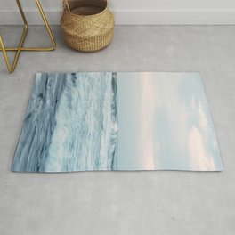 TIME LAPSE PHOTOGRAPHY OF OCEAN WAVE Rug