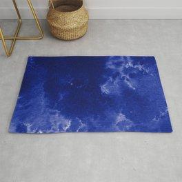 Watercolor wash - dark blue  Rug