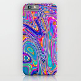 Neon melt iPhone Case