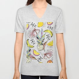 Fruits & leaves Unisex V-Neck