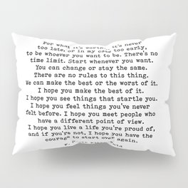 Life quote, For what it's worth, F. Scott Fitzgerald Quote Pillow Sham