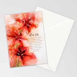 Red Lily Stationery Cards