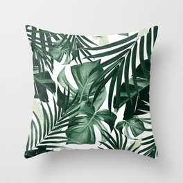 Tropical Jungle Leaves Pattern #4 #tropical #decor #art #society6 Throw Pillow