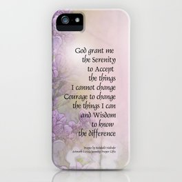 Serenity Prayer Lilacs iPhone Case