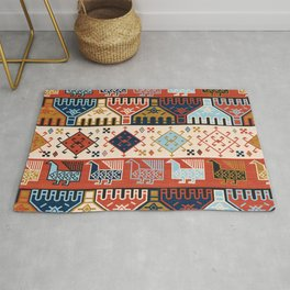 Dena in Red and Cream Rug