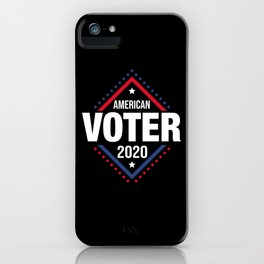 Artistic Voter Of America Illustration iPhone Case