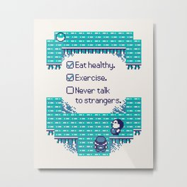 Blue Trainer Tips Metal Print