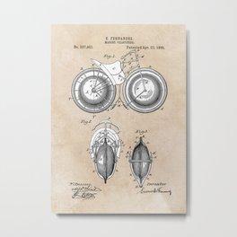 Patent Art Fernandez Marine Velocipede Metal Print