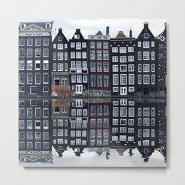 Amsterdam houses 1. Metal Print