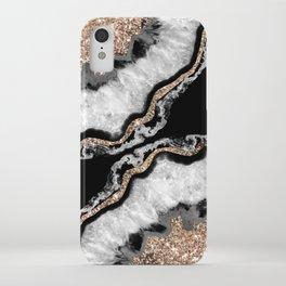 Yin Yang Agate Glitter Glam #8 #gem #decor #art #society6 iPhone Case