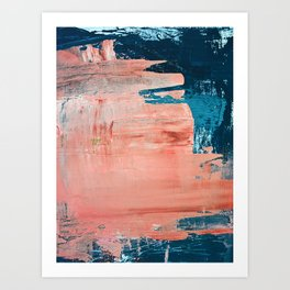 Energy: a vibrant minimal abstract piece in pink and blue by Alyssa Hamilton Art Art Print