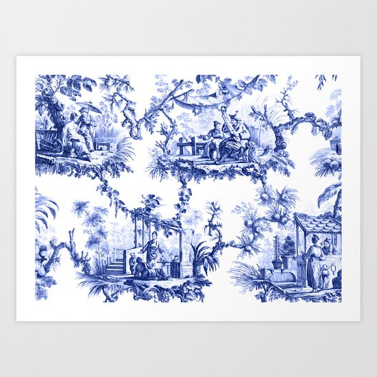 Blue Chinoiserie Toile by thechinoiseriepavillion