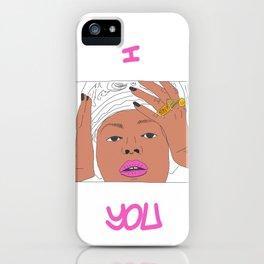 Bey Portrait Minimalist Line Art iPhone Case