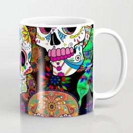 Rocking Color Sugar Skull Day Of The Dead Coffee Mug